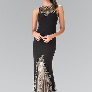 Long Sleeveless High Neck Dress GL2204